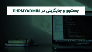 Photo of آموزش جستجو و جایگزینی در phpMyAdmin